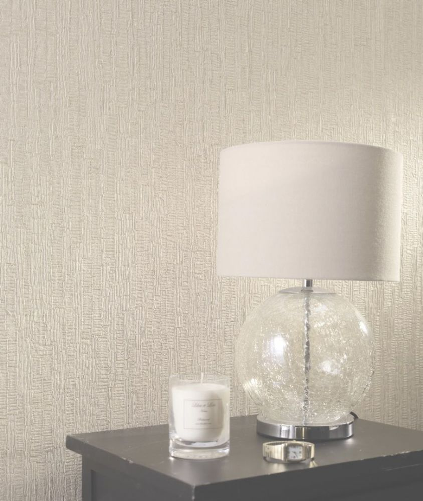Holden Decor Ornella Bark Cream 35270 Wallpaper
